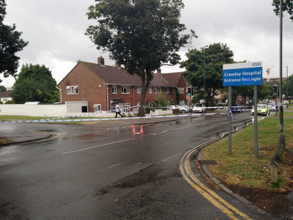 an elderly man has been rushed to hospital after he was knocked down