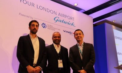 Daniel Haque, Chief Digital Officer, VINCI Airports, Abhi Chacko, Head of Innovation, Gatwick Airport, Cedric Laurier, Chief Technical Officer, Gatwick Airport
